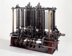 "Modell von Babbages ""Analytical Engine"""